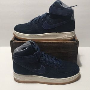 Nike Air Force 1 Hi SE Binary Denim Women's Sz 6.5